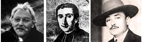 Yves Rouquette, l'abbé Fabre et Joseph d'Arbaud