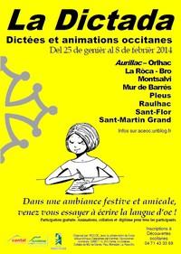 Affiche des dictadas du Cantal 2014