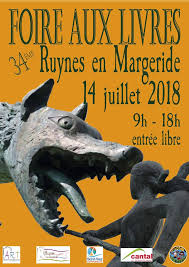 Affiche de la Foire aux livres Ruynes 2018