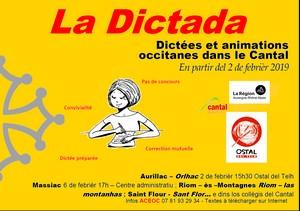 affiche de la dictada 2019