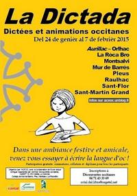 Affiche des dictées occitanes du Cantal