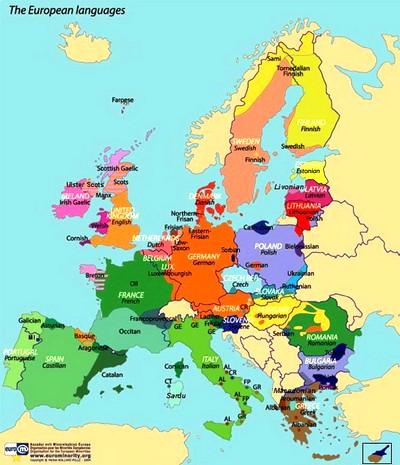 Las lengas parladas en Euròpa