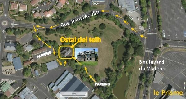 pour trouver l'Ostal del telh, photo aérienne (IGN)