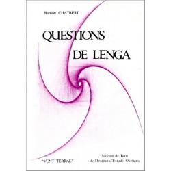 Questions de lenga - Ramon Chatbèrt