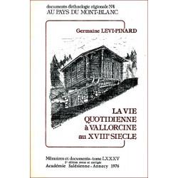 La vie quotidienne à Vallorcine - G. Lévi-Pinard