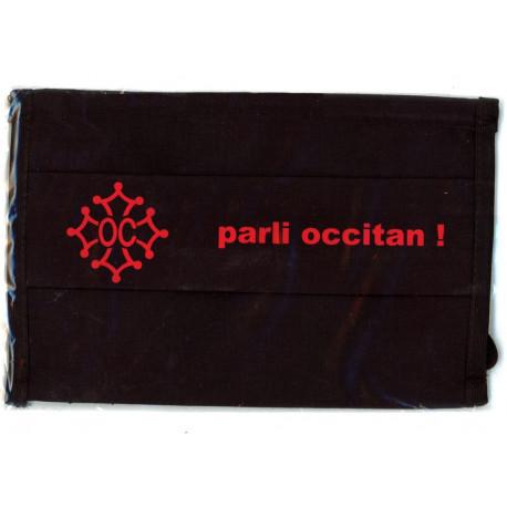 """Masque coton noir """"Parli occitan"""""""