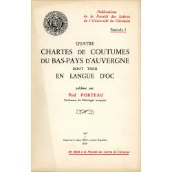 Quatre chartes de coutumes... d'Auvergne